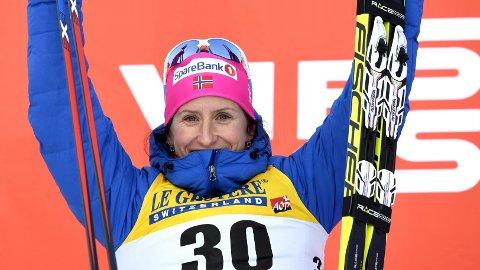 TIL TOPPS: Marit Bjørgen vant 10-kilometeren i Ruka.