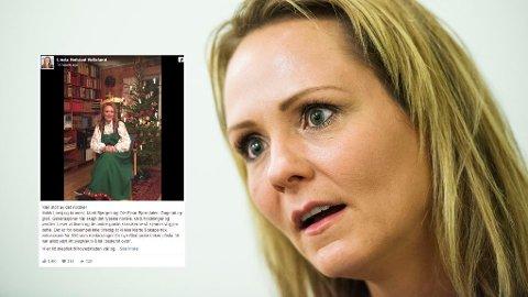 TRADISJONER: Kulturminister Linda Hofstad Hellelands Facebook-innlegg har fått mange til å reagere.