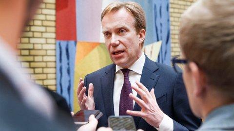 Utenriksminister Børge Brende (H).