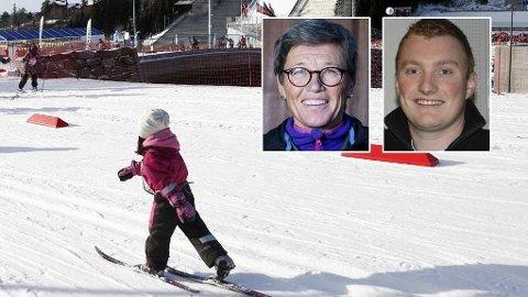 Både Ingrid Kristiansen og Mads Andreassen i Norges Idrettsforbund mener for tidlig voksenstyrt aktivitet kan gjøre at barna blir fortere lei.
