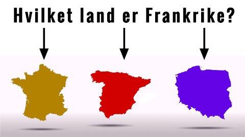 Ett av disse landene er Frankrike, ser du hvilket?