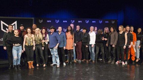 FINALISTENE: Alle deltakerne i Melodi Grand Prix samlet.