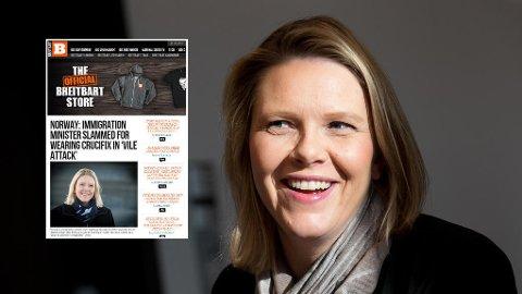 Saken om Sylvi Listhaug og korsbruken har blitt plukket opp av det høyrevridde nettstedet Breitbart.