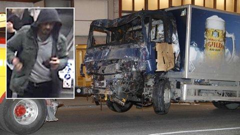 HADDE BOMBE: Den 39 år gamle gjerningsmannen skal ha hatt en hjemmelaget bombe i lastebilen, men den ble heldigvis ikke utløst skikkelig.