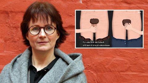 Lærer og autorisert seksualunderviser, Stine Kühle-Hansen, har vært medmanusforfatter for den nye serien «Kroppen min eier jeg» på NRK Super.