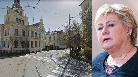 DAGENS TRASÉ: Trikketrassen går foran Statsministerens representasjonsbolig og bolig.