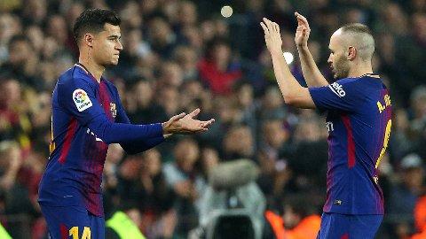 DEBUT: Philippe Coutinho fikk sin debut for Barcelona etter overgangen fra Liverpool.