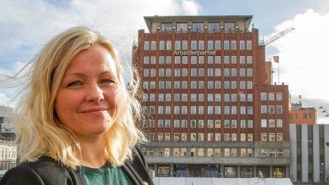 MAKTEN PÅ YOUNGSTORGET: Partisekretær Kjersti Stenseng leder partikontoret.