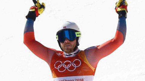 IMPONERTE: Kjetil Jansrud kjørte solid i super-G-rennet i OL fredag.