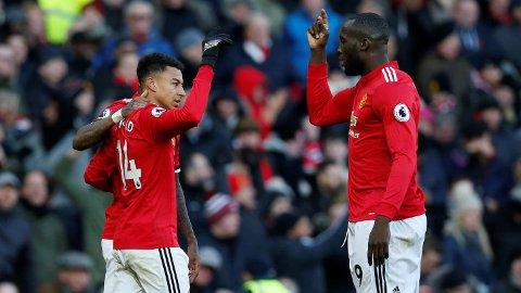 MÅLMASKINER: Både Romelu Lukaku og Jesse Lingard scoret mot Chelsea søndag.