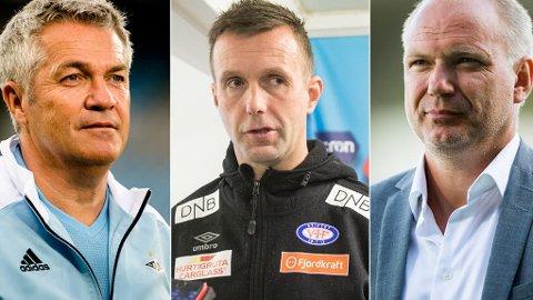 NY SESONG: Kåre Ingebrigtsen, Ronny Deila og Dag-Eilev Fagermo er klare for en ny sesong med Eliteserien.