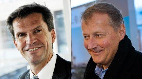 DNB Markets-sjef Ottar Ertzeid (til venstre) har tjent 40 millioner kroner mer de siste åtte år enn sjefen sjølv - Rune Bjerke (til høyre).