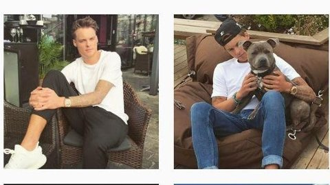 Gustav Magnar Witzøe (24) slik han framstår på Instagram.