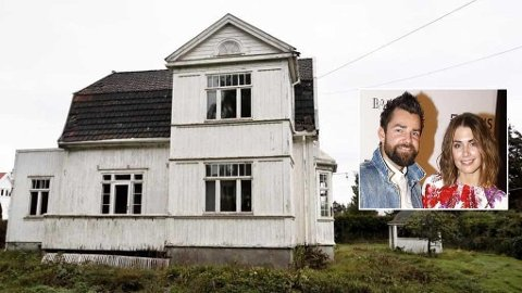 BYGGETRØBBEL: Prosjektet har ikke gått helt som planlagt for Tone Damli Aaberge (29) og samboeren Markus Foss (35). Etter at de rev denne bygningen startet problemene.