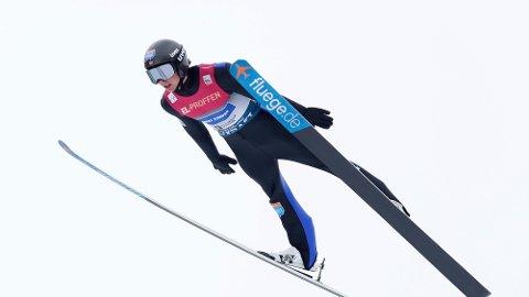 BESTE NORSKE: Jarl Magnus Riiber var nest best i tirsdagens hoppdel av kombinert verdenscupen.