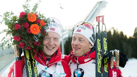 GODE VENNER: Johannes Thingnes Bø og Tarjei Bø er ikke bare brødre, de er også gode venner.