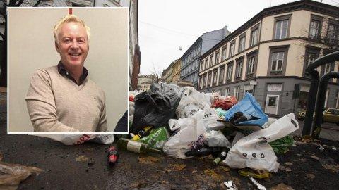 AVVISER ANKLAGENE: Johnny Enger avviser anklagene etter søppelrotet i Oslo.