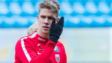 DEBUTANT: Kristoffer Ajer er med A-landslaget for første gang.