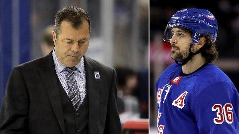 SPARKET: Alain Vigneault ga Mats Zuccarello en nøkkelrolle i New York Rangers, noe som bidro til at nordmannen var lagets beste poengplukker i fire av de fem sesongene Vigneault styrte laget. Nå skiller de lag.