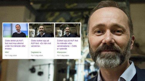 KUNNE GI FEIL INNTRYKK: VG og NRK valgte derfor å endre sine saker om Trond Giskes deltakelse på Løvebakken AUFs påskefest i april.