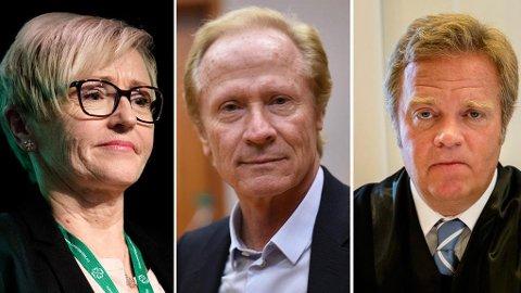 STRAFFBART: Advokatene Per Danielsen og Jon Wessel-Aas mener Navarsete kan være utsatt for noe straffbart i forbindelse med SMSen som ble sendt henne.