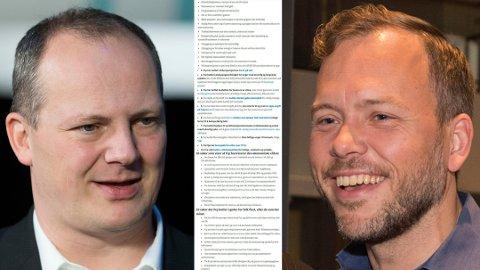 Ketil Solvik-Olsen (FrP) og Audun Lysakken (SV) har havnet i en full krig om hvorvidt Frp er et parti som gjør livet bedre for den vanlige arbeider.