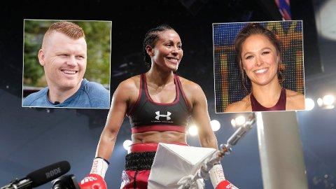 CELEBRE GJESTER: John Arne Riise har tidligere sett Cecilia Brækhus bokse fra ringside. Han tar neppe turen til Los Angeles, men der venter trolig blant andre Ronda Rousey som tilskuer.