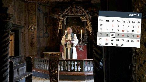 DROPP HELLIGDAGENE: Sogneprest Einar Gelius har et godt forslag når han vil fjerne de minst hellige kristne helligdagene.