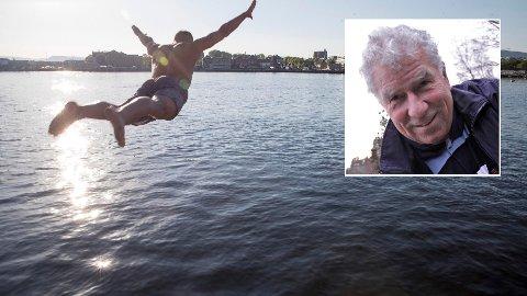 SOMMER: Det er ikke gitt at sommeren fortsetter å være like bra som i mai. Bildet er fra Sørenga i Oslo. Innfelt: Værstatistiker Bernt Lie.