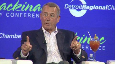 Tidligere leder for Representantenes hus, John Boehner, på konferansen torsdag.