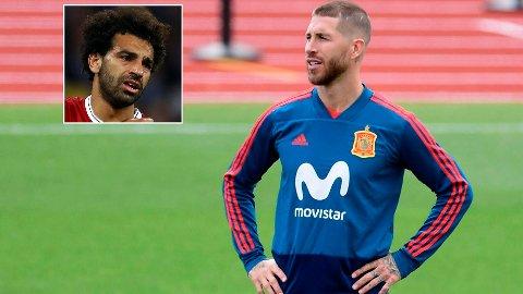 KRITISK: Sergio Ramos (t.h) synes lite om kritikken han har fått i ettertid av møte med Salah og Liverpool.