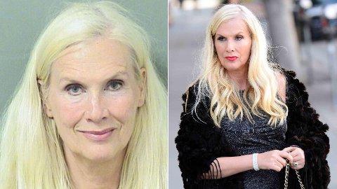 TILTALT FOR TYVERI: Gunilla Persson, kjent fra Svenske Hollywoodfruer, er tiltalt for tyveri av et par solbriller til en verdi av 4700 svenske kroner i Florida. Bildet til venstre er bildet som ble tatt av Persson i forbindelse med at hun ble arrestert.