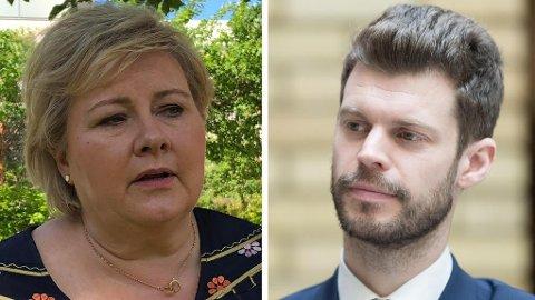 - Erna Solbergs (H) reaksjon på avsløringene har vært nervøs og defensiv, skriver Rødt-leder Bjørnar Moxnes.