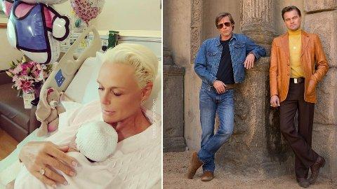 Brigitte Nilsen fødte nylig sitt femte barn, en velskapt jente. Leonardo DiCaprio og Brad Pitt skal spille i Tarantino's Once Upon A Time In Hollywood. Dette er det første bildet.