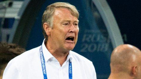 VM-EXIT: Åge Hareide og Danmark ble slått ut av VM i åttedelsfinalen mot Kroatia.
