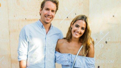 NYTER LIVET: Emil Hegle Svendsen og forloveden Samantha Skogrand venter barn.