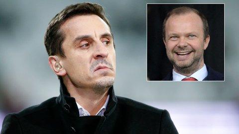 KRITISK: Gary Neville var ikke imponert over United-direktør Ed Woodward.