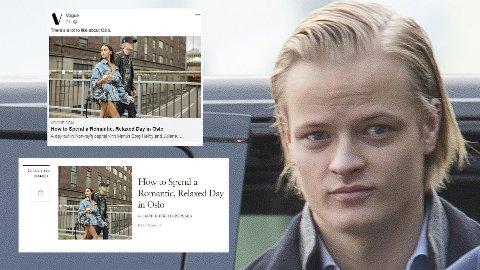 Kjæresteparet Juliane Snekkestad og Marius Borg Høiby har vært i Oslo og presentert sine favorittsteder i hovedstaden for magasinet Vogue.