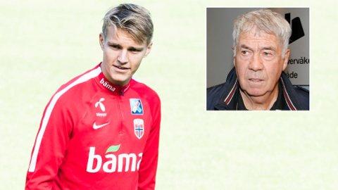 BRYR SEG IKKE: Martin Ødegaard forteller at han ikke tenker mye på hva Egil Drillo Olsen og andre mener om hans utvikling.