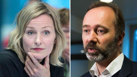 VARSEL: Inga Marte Thorkildsen og Trond Giske har begge fått varsel mot seg. Foto: Berit Roald, NTB scanpix/ Foto: Vidar Ruud, NTB scanpix