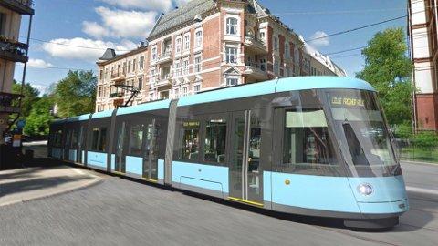 NYE TRIKKER: Retten avviste Siemens' krav om innsyn, og Oslo kommune kan nå fortsette anskaffelsen av nye trikker til hovedstaden. På bildet sre vi den nye trikkemodellen SL18.