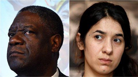 VINNERNE: Denis Mukwege og Nadia Murad får fredsprisen 2018.