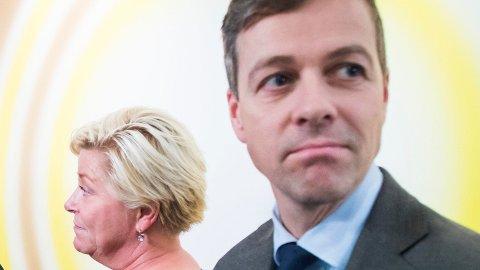 KONFLIKT: Fremskrittspartiet og Siv Jensen er svært kontroversiell blant KrF-velgerne til Knut Arild Hareide, viser en ny meningsmåling gjort for Nettavisen.