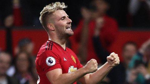 GOD UKESLØNN: Luke Shaw kan smile godt om han underskriver en ny kontrakt med Manchester United.
