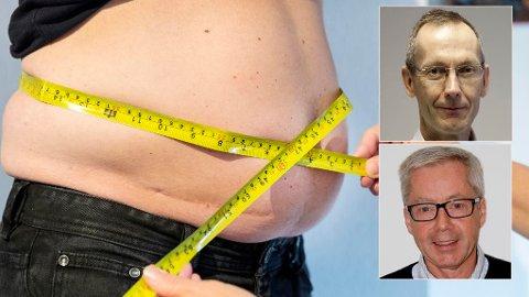 OVERVEKTIGE NORDMENN: Professor Steinar Krokstad ved NTNU mener vi bør vurdere å endre BMI skalaen for å tilpasse oss utviklingen i samfunnet. Professor og lege Jøran Hjelmesæth er helt uenig.