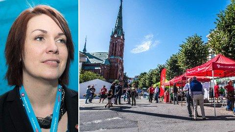 JUBLER: Stortingsrepresentant for Frp, Åshild Bruun-Gundersen, jubler over Arendal Aps vedtak om å gå imot bompengeringen rundt byen.