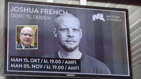 Høyre-politiker Hårek Elvenes reagerer på at Joshua French skal tjene penger på foredragsvirksomhet