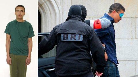 Makaveli Lindén føres inn til rettsmøte i Dijon i Frankrike med bind for øynene 24. oktober. Han er tiltalt for å ha drept Heikki Bjørklund Paltto i en leilighet på Majorstuen i Oslo mandag 15. oktober.