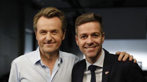KrF-leder Knut Arild Hareide ga ikke Fredrik Skavlan noe særlig drahjelp fredag 2. november. Det ble en ny bunnotering.