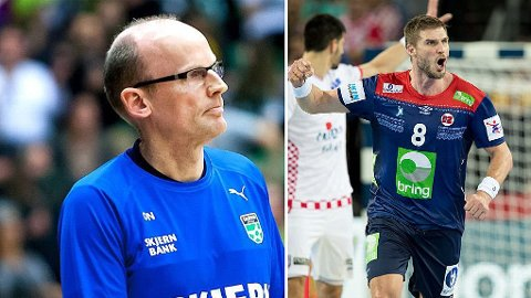 MOTIVATOR: Skjern-trener Ole Nørgaard (til venstre) har holdt det gående i dansk topphåndball i mange år. Noe av det som har inspirert ham mest var ankomsten til Bjarte Myrhol i 2015.